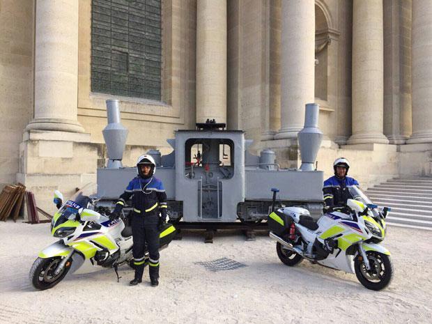 Локомотива пред Палатом инвалида 25.10.2018. у Паризу